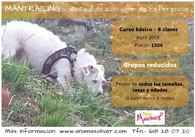cartel curso mantrailing 2019 ana masoliver