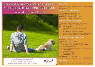 cartel seminario madurez perros educacion canina ana masoliver