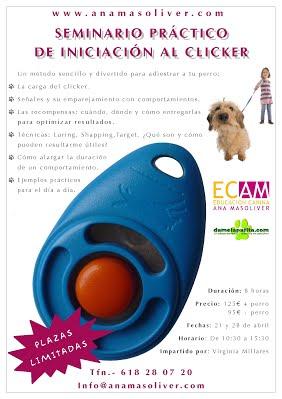 cartel semianrio clicker virginia millares edcucacion canina ana masoliver
