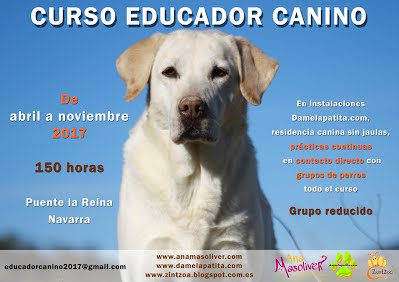cartel curso educador canino ana masoliver