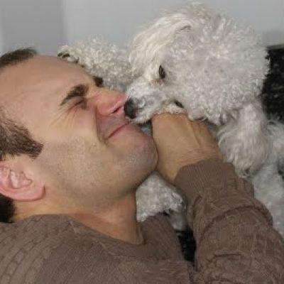 perro lame cara hombre educacion canina ana masoliver
