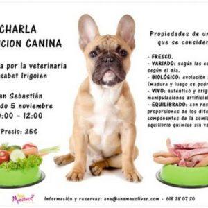 cartel charla nutricion veterinaria san sebastian